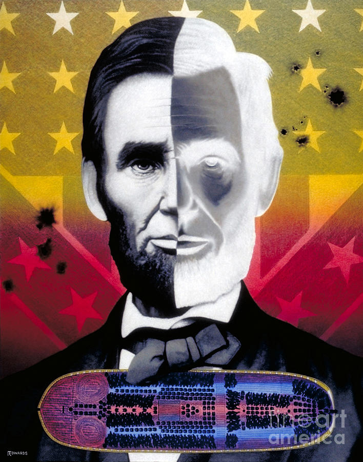Civil War Painting - Color In Black And White by Ross Edwards