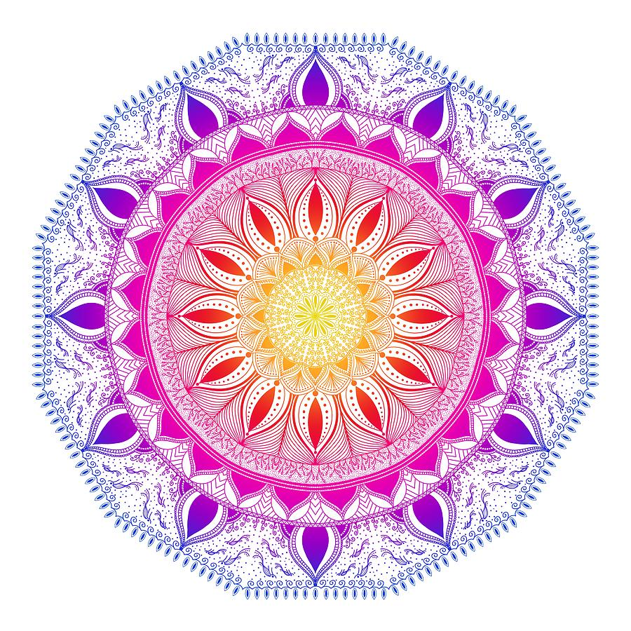 Color Life Circle Mandala