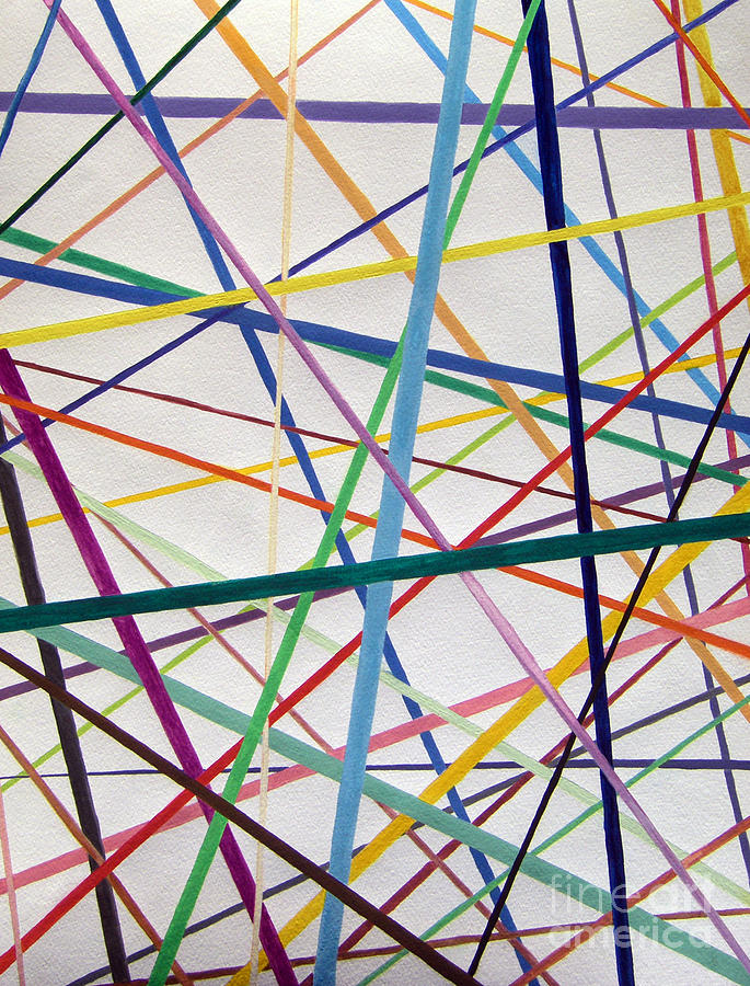 Abstract Painting - Color Lines Variety by Lee Serenethos