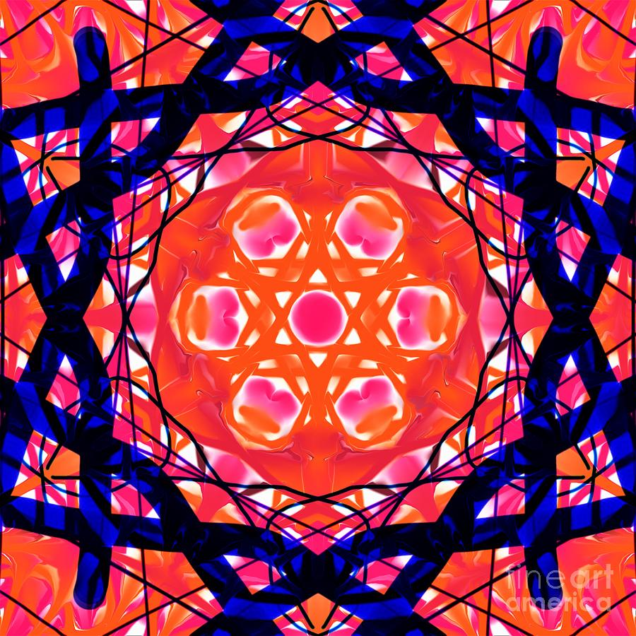 Color Love - Orange Blue And Pink Tapestry - Textile