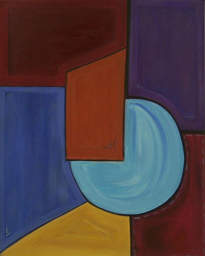 Geometric Abstract Painting - Color Me Happy by Sandy Bostelman