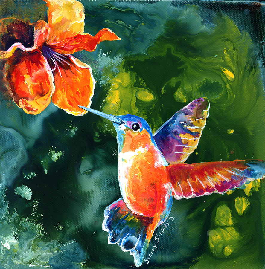 Painting Color color me humming paintingsherry shipley