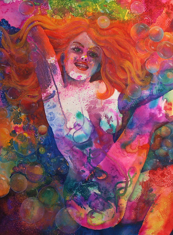 Nude Painting - Color Me Mardi Gras by Valerie Aune