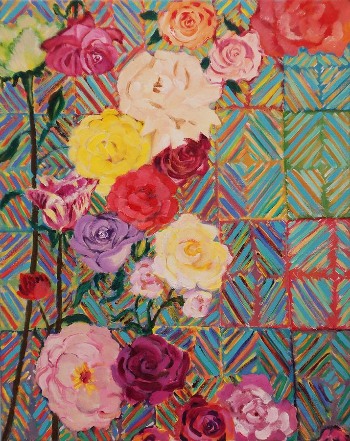 Bold Painting - Color Me Roses by Fran Steinmark