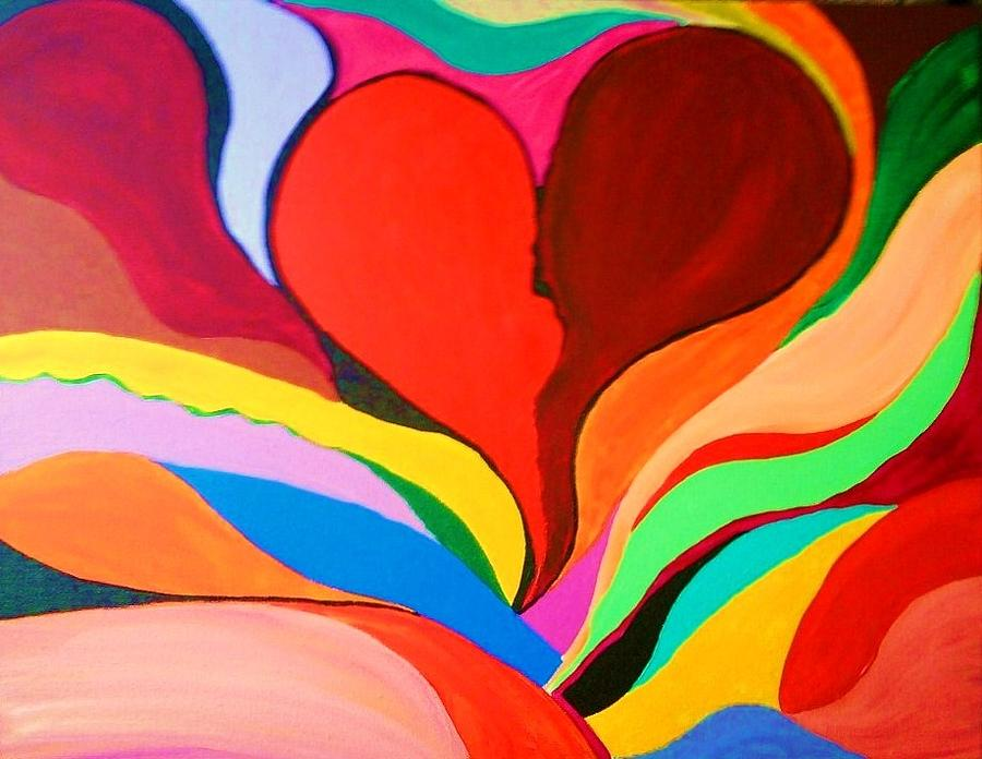 Color Painting - Color Mine With Love by Charles  Jennison