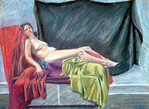 Pastel Drawing - Color Nude by Zachary Goodson
