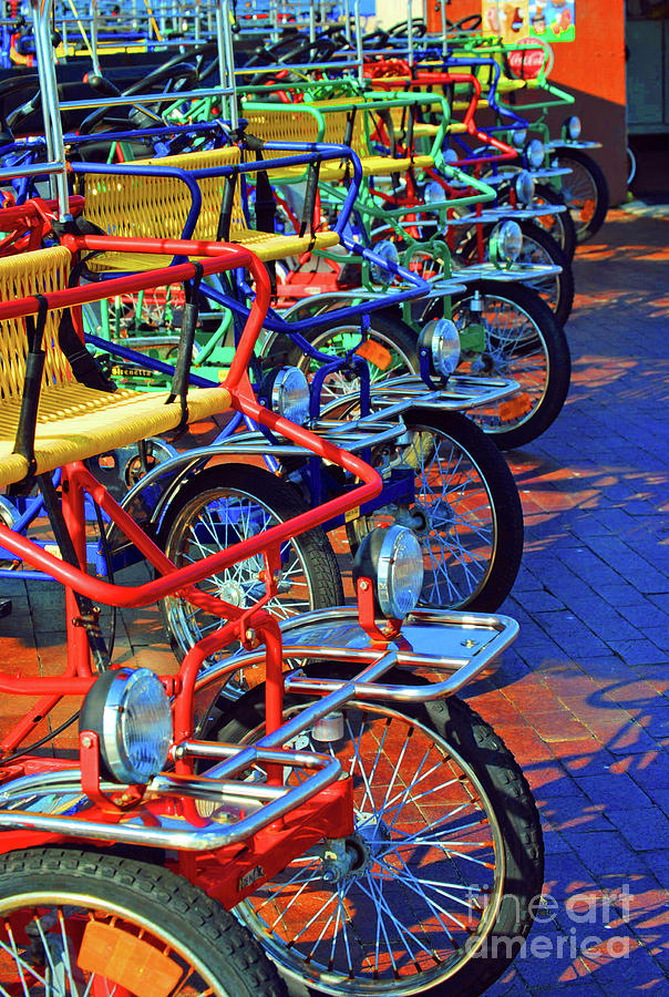 Bikes Photograph - Color Of Bikes by Jost Houk