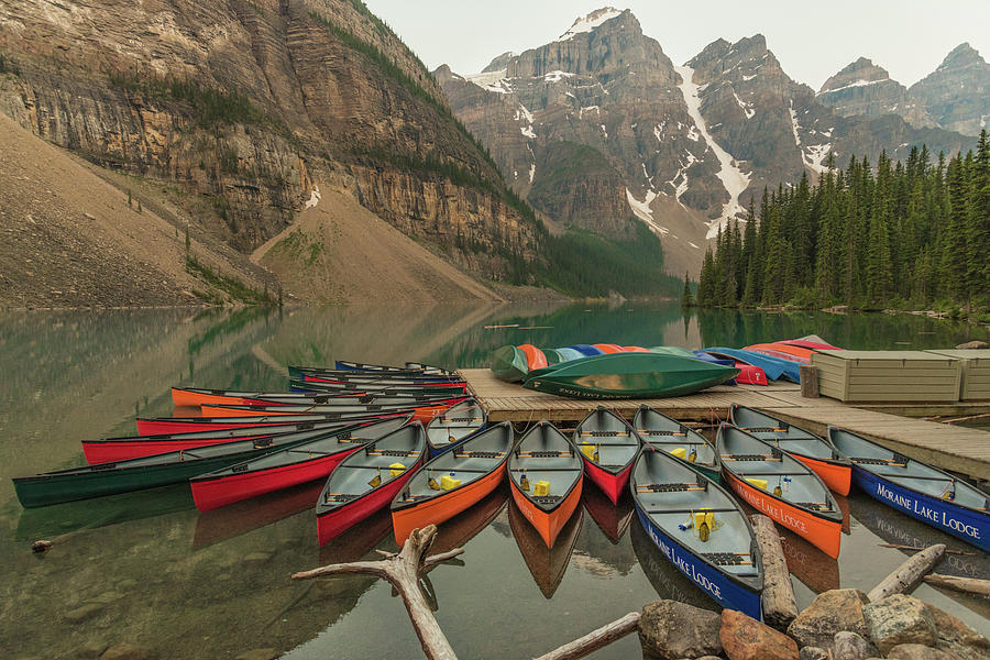 Moraine Lake Photograph - Color Palette by Kristopher Schoenleber
