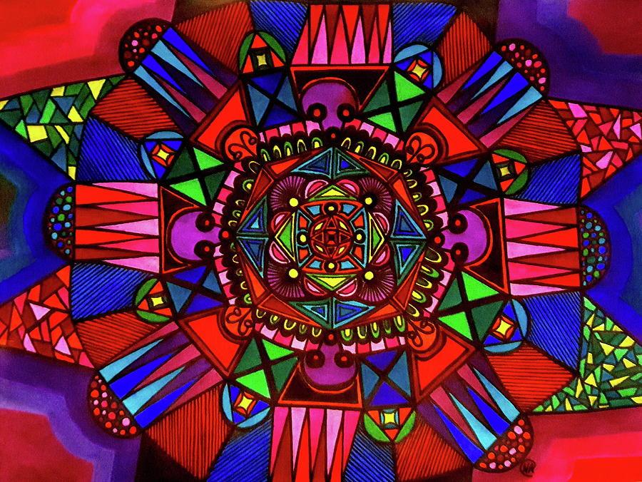 Mandala Drawing - Color Paluzza II by Neal Alicakos