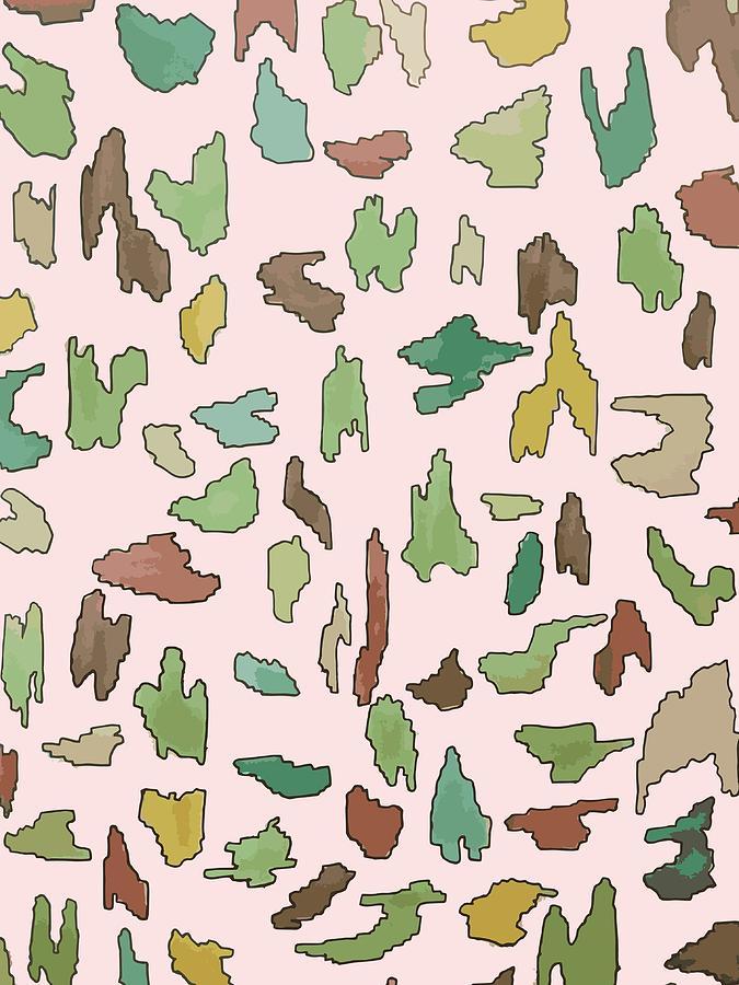 Pattern Digital Art - Color Pattern 3 by Cortney Herron