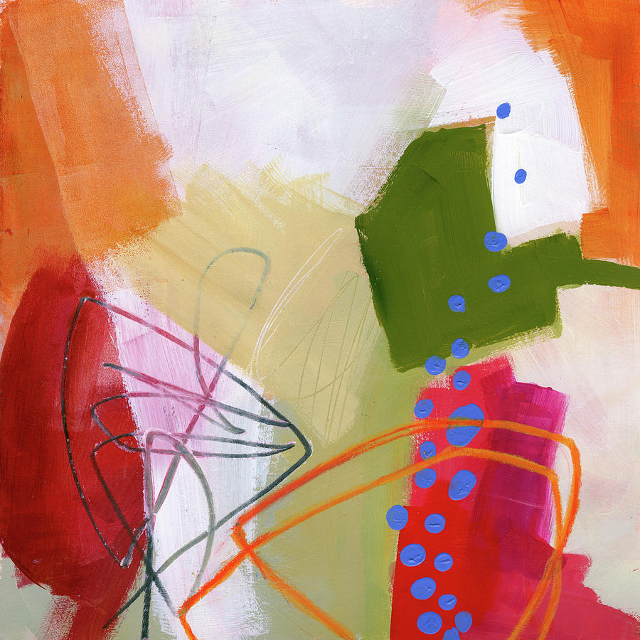 Pattern Painting - Color, Pattern, Line #4 by Jane Davies