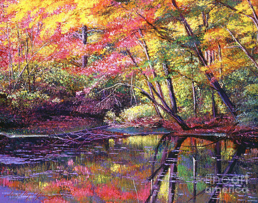 Landscape Painting - Color Poetry by David Lloyd Glover
