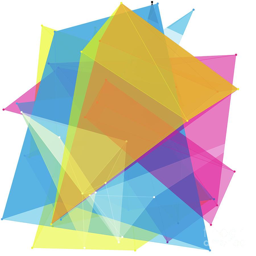 Color Polygon Pattern by Frank Ramspott