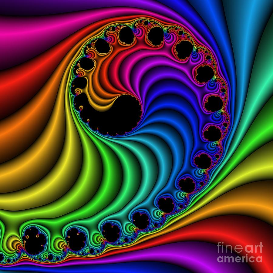 Abstract Digital Art - Color Ribs 116 by Rolf Bertram