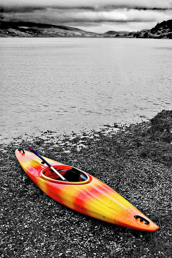 Kayak Photograph - Color Splash by Meirion Matthias