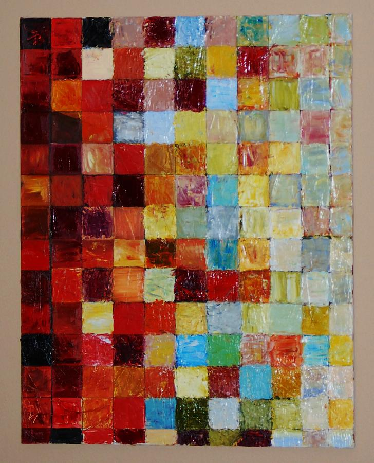 Abstract Painting - Color Squares by Ian  Fruehauf
