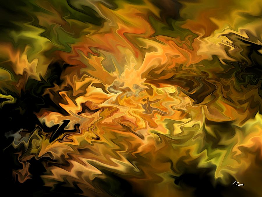 Abstract Digital Art - Color Storm by Tom Romeo