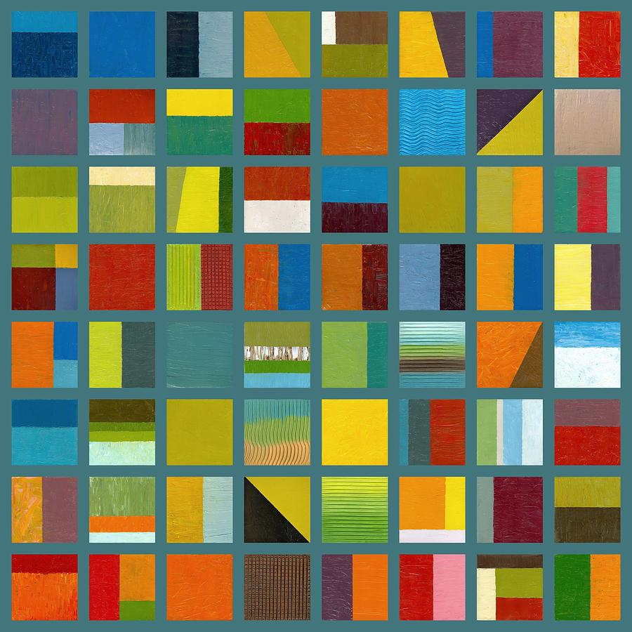 Abstract Painting - Color Study Collage 67 by Michelle Calkins
