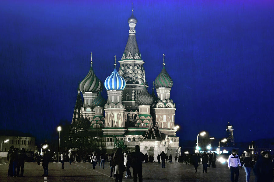 Moscow Photograph - Color The Night by JAMART Photography