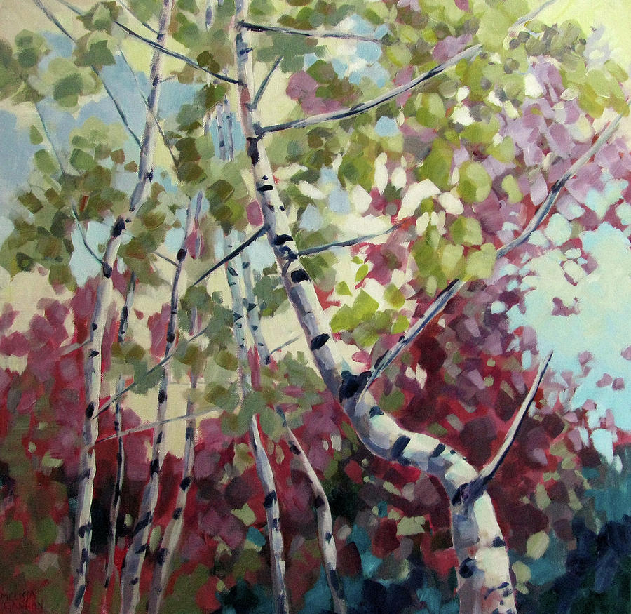 Trees Painting - Color Twirl by Melissa Gannon