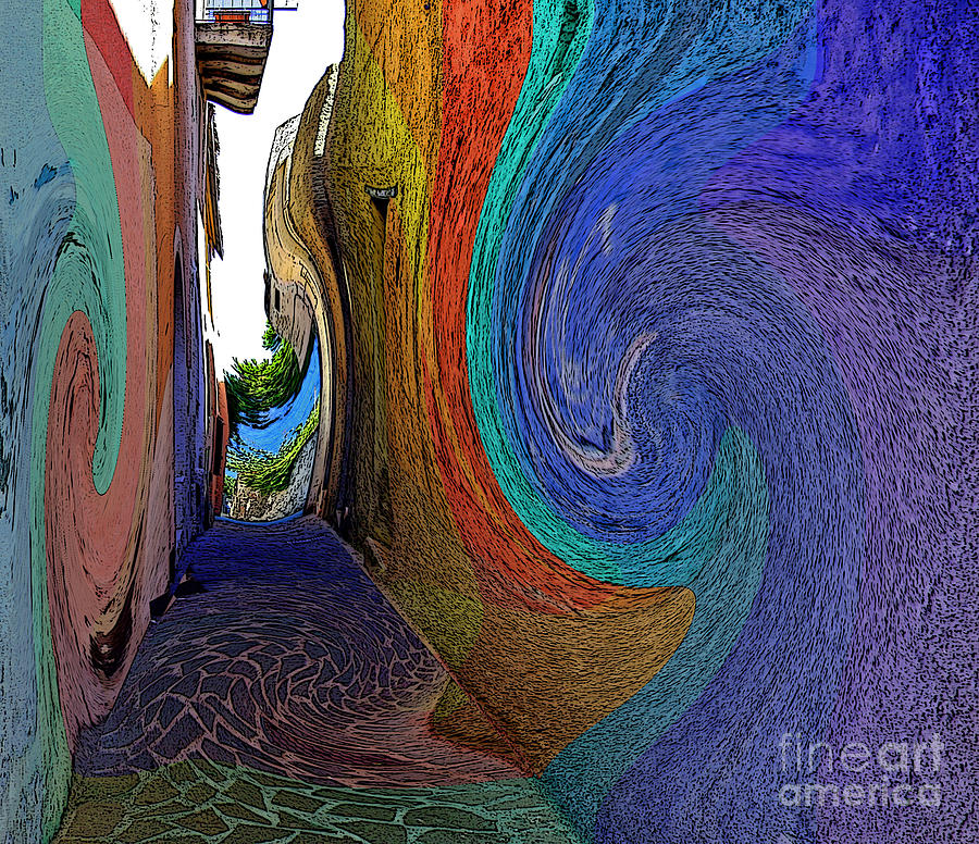 Alley Photograph - Color Undertow by Ayesha DeLorenzo