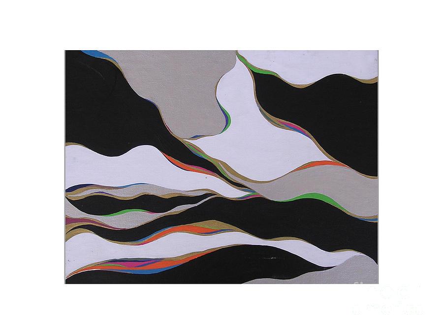 Black Painting - Color Veins by Amanda Heavlow