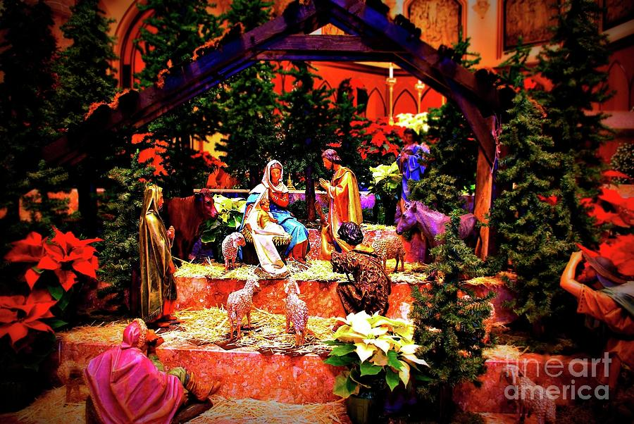 Color Vibe Nativity - No Border  by Frank J Casella