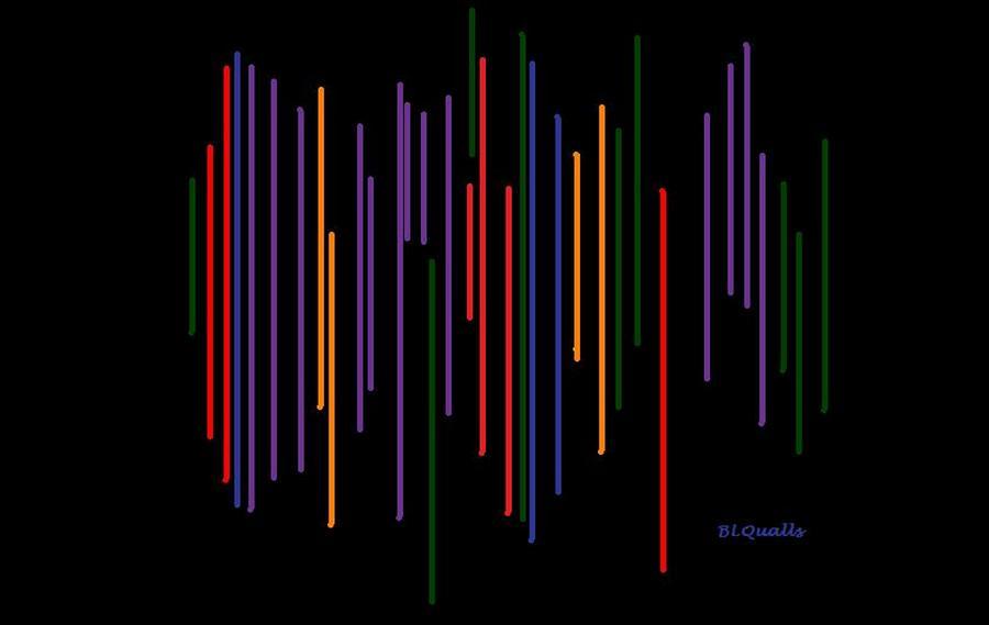 Abstract Digital Art - Color Vibrations by B L Qualls
