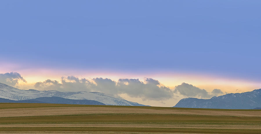 Colorado Agriculture Plains Sunset Diptych Pt 2 Photograph