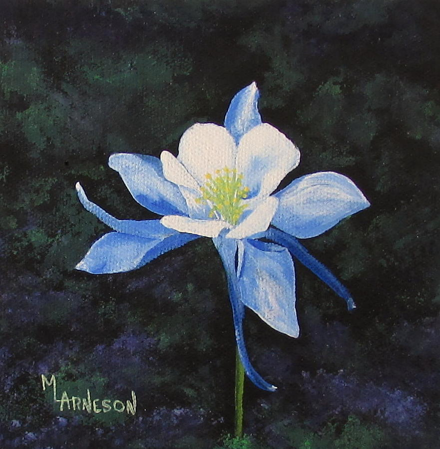 Columbine Painting - Colorado Blue by Mary Arneson