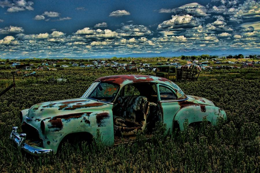 Antique Car Photograph - Colorado Chevy by Nick Roberts
