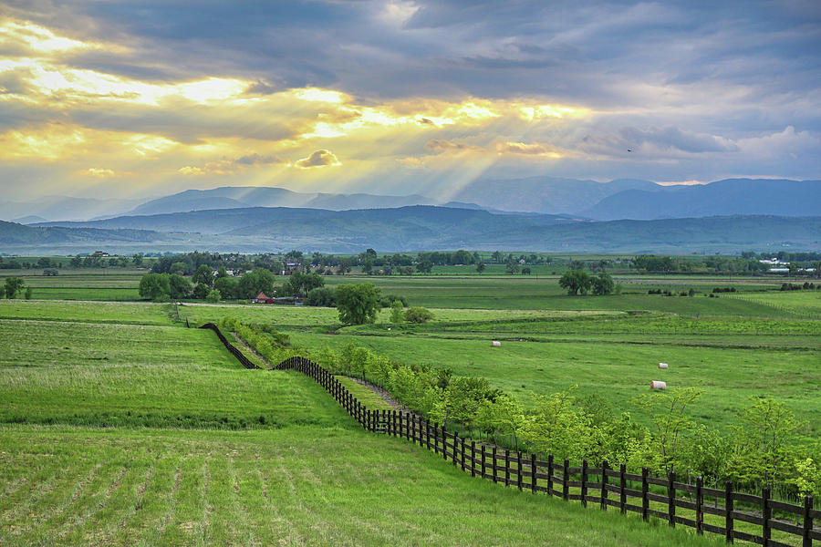 Colorado Country Fence To The Rockies Photograph
