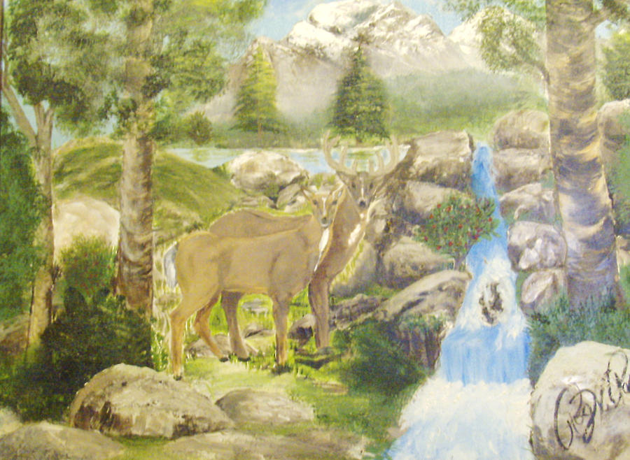 Landscape Painting - Colorado Couple by Roger Rambo