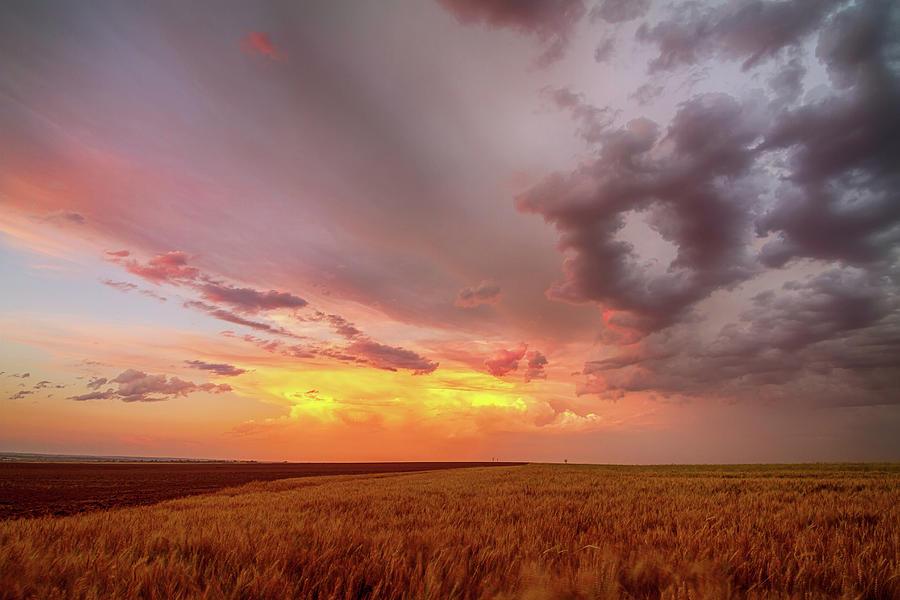 Colorado Eastern Plains Sunset Sky Photograph