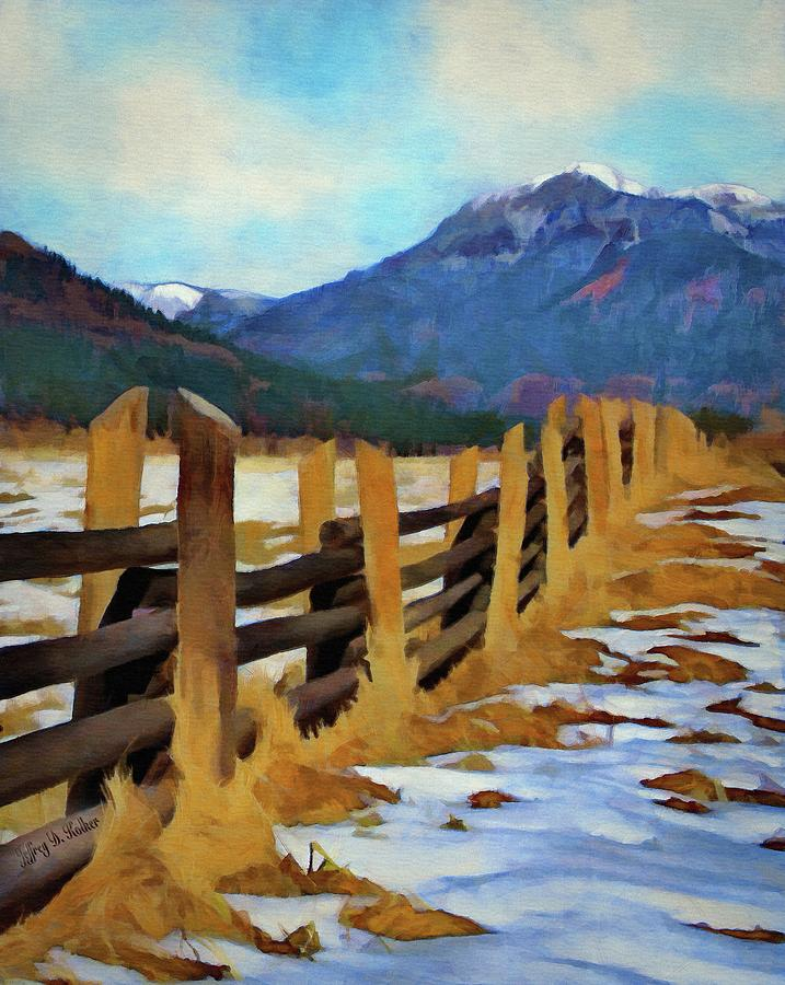 Colorado Fence Line  by Jeffrey Kolker