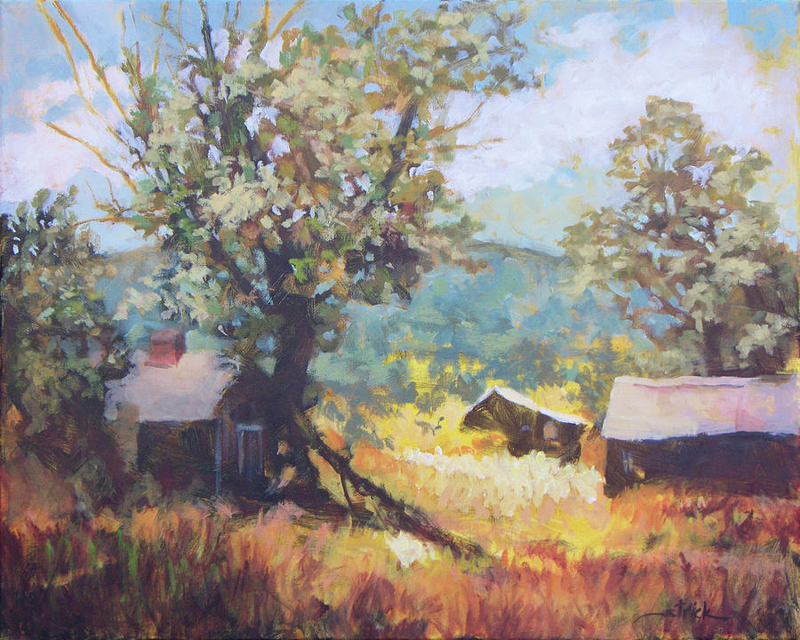 Farm Painting - Colorado Field by Carol Strickland
