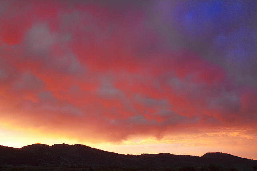 Boulder County Photograph - Colorado Front Range Rocky Mountains Foothills Sunset by James BO  Insogna