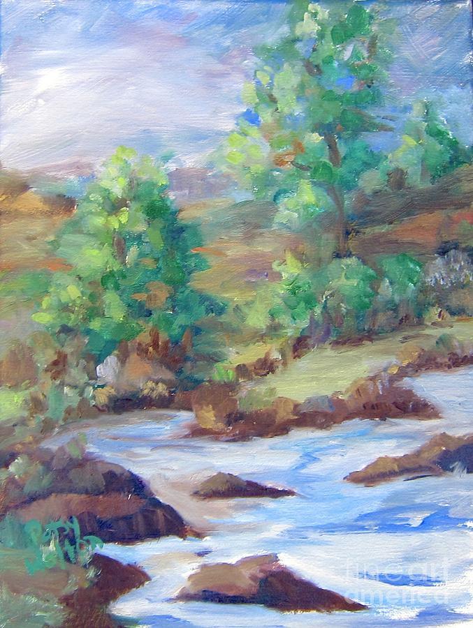 River Painting - Colorado High by Patsy Walton