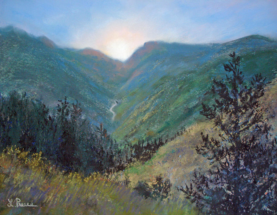 Colorado Pastel - Colorado Highway by Linda Preece