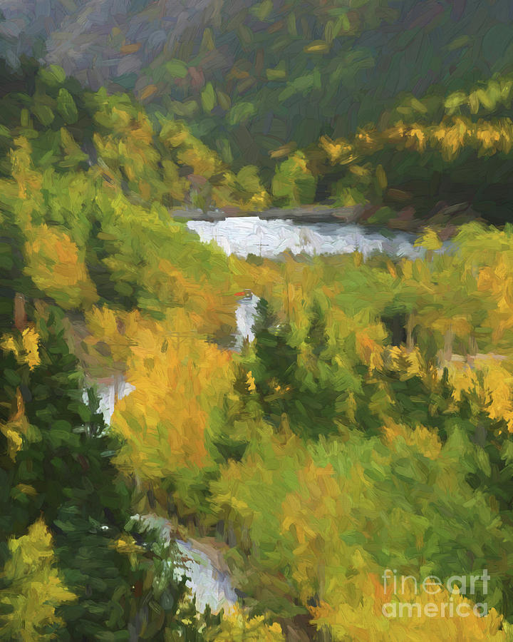 Colorado Painting - Colorado Lake And Colors by Steven Parker