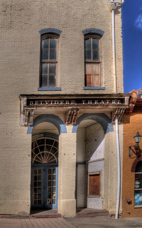 Mining Town Photograph - Belvidere Theatre by Dave Rennie
