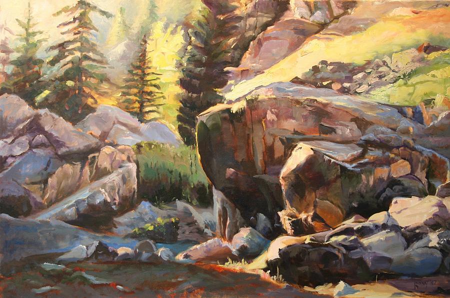 Colorado Painting - Colorado Mountain Basin by Stuart Roddy