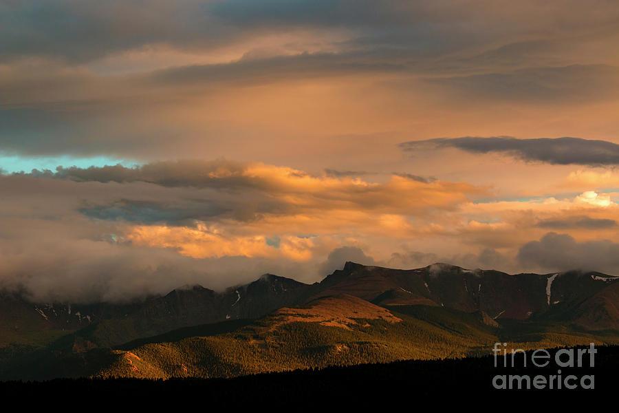 Colorado Mountain Sunset Photograph