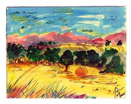 Colorado Pastures Painting by Jon Noah