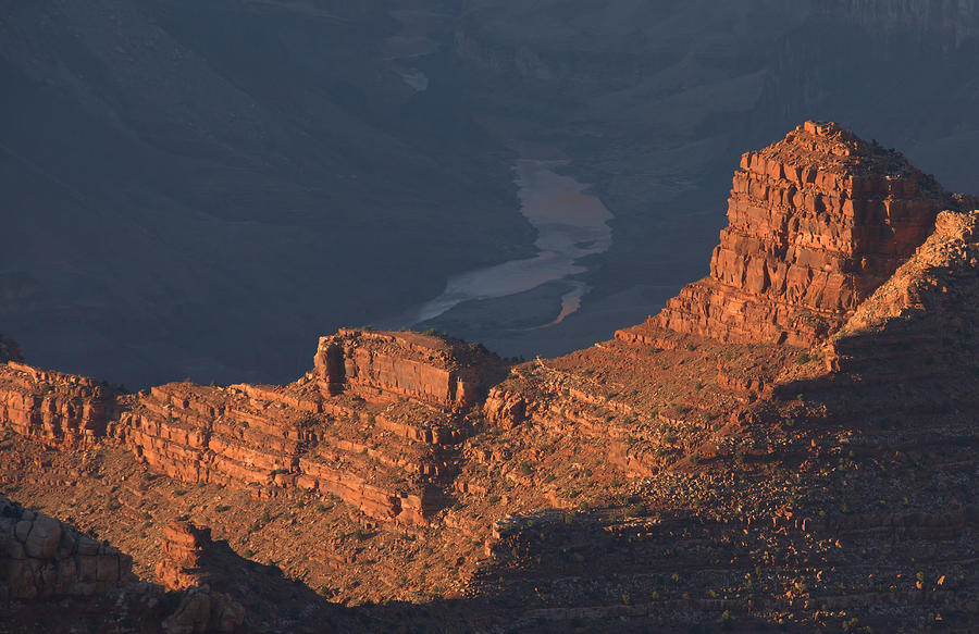Grand Canyon Photograph - Colorado River At Sunset by Stephen  Vecchiotti