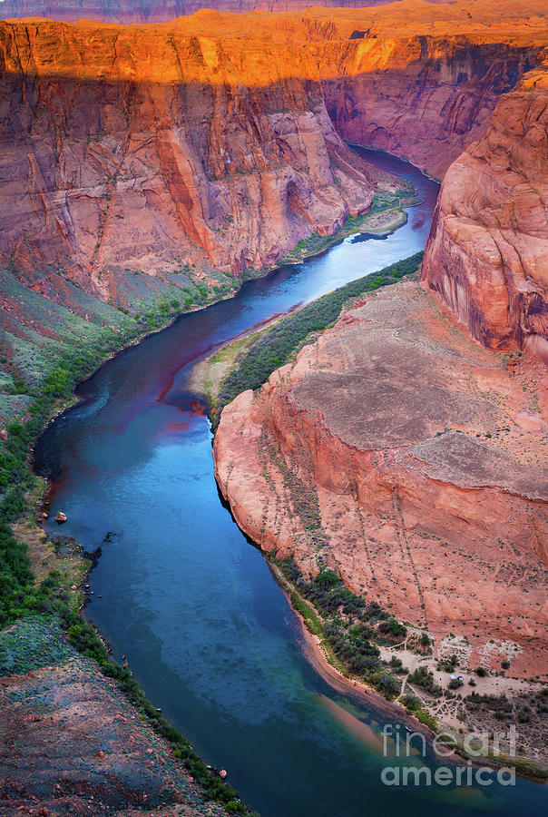 America Photograph - Colorado River Bend by Inge Johnsson