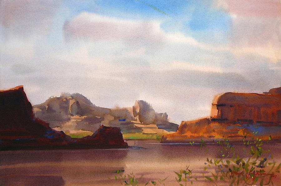 Colorado River Painting - Colorado River by Frank LaLumia