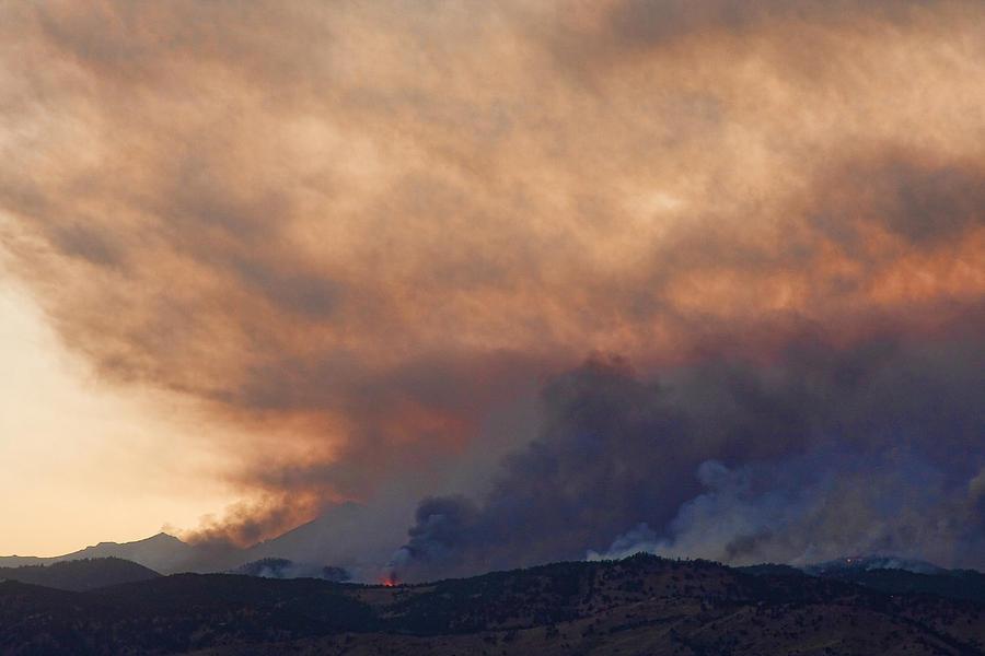 Smoke Photograph - Colorado Rockies On Fire by James BO  Insogna