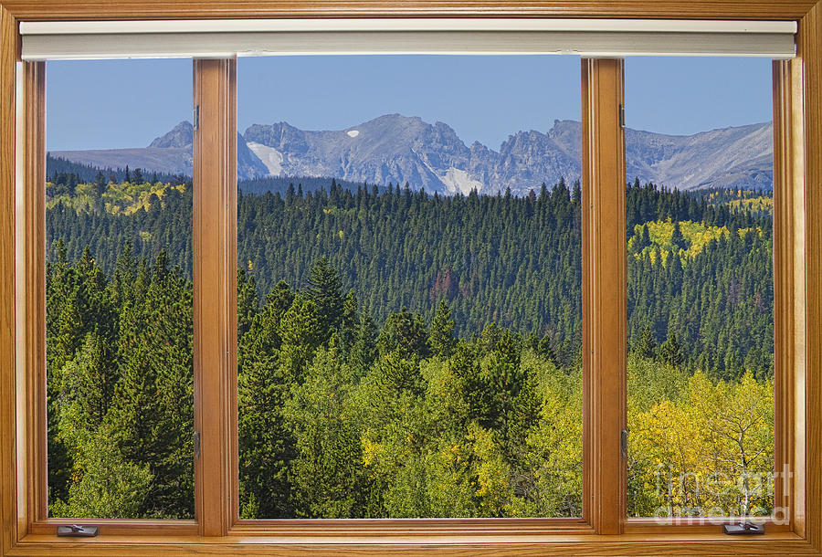 Attractive Mountain View Windows #6: Windows Photograph - Colorado Rocky Mountain Continental Divide Autumn Window  View By James BO Insogna