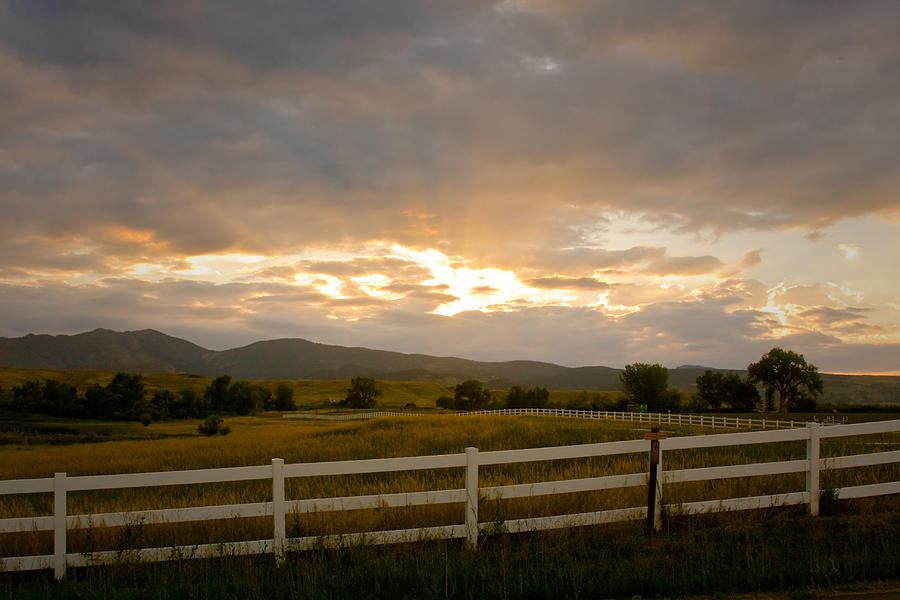 Country Photograph - Colorado Rocky Mountain Country Sunset by James BO  Insogna